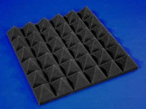 48 Pack of (12 x 12 x 2)Inch Acoustical Pyramid Foam Panel
