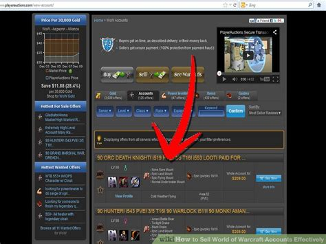 How to Sell World of Warcraft Accounts Effectively (with