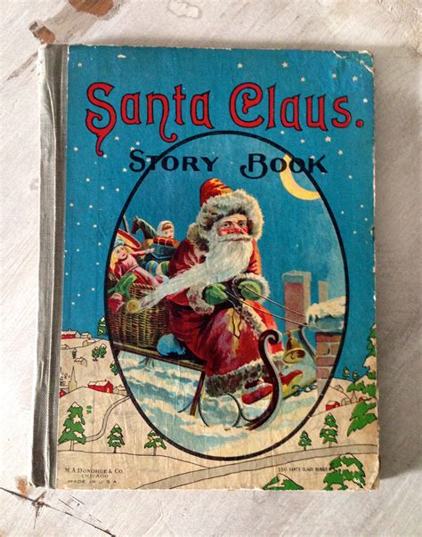 Antique Santa Claus Story Book Early 1900s M