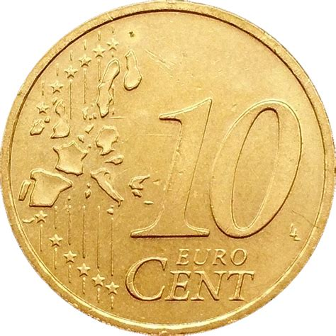 10 Euro Cent (1st map) - Germany - Federal Republic – Numista