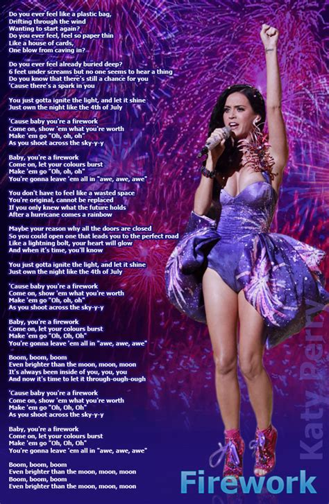 Firework by Katy Perry | Lyrics Picture