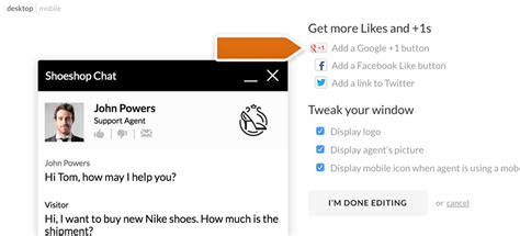 Google+: get +1s from chat   LiveChat Help Center