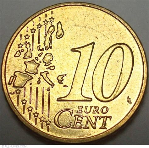 10 Euro Cent 2003 A, Euro (2002-present) - Germany - Coin