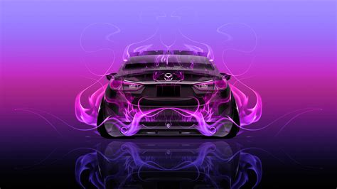 Mazda 6 JDM Tuning Back Fire Abstract Car 2015 Wallpapers