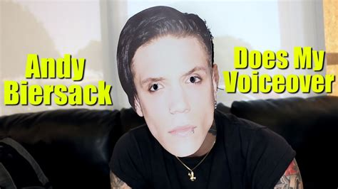 Andy Biersack Does My Voiceover - YouTube