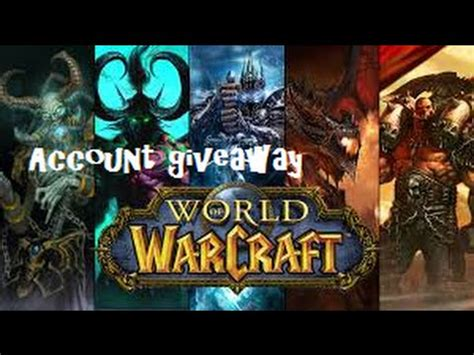World of Warcraft Account Giveaway - YouTube