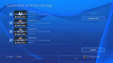 Clearing PSN's Online Storage Via The PS4 - YouTube