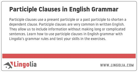 Participle Clauses in English Grammar