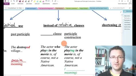 Grammar in Use: Participle Clauses - YouTube